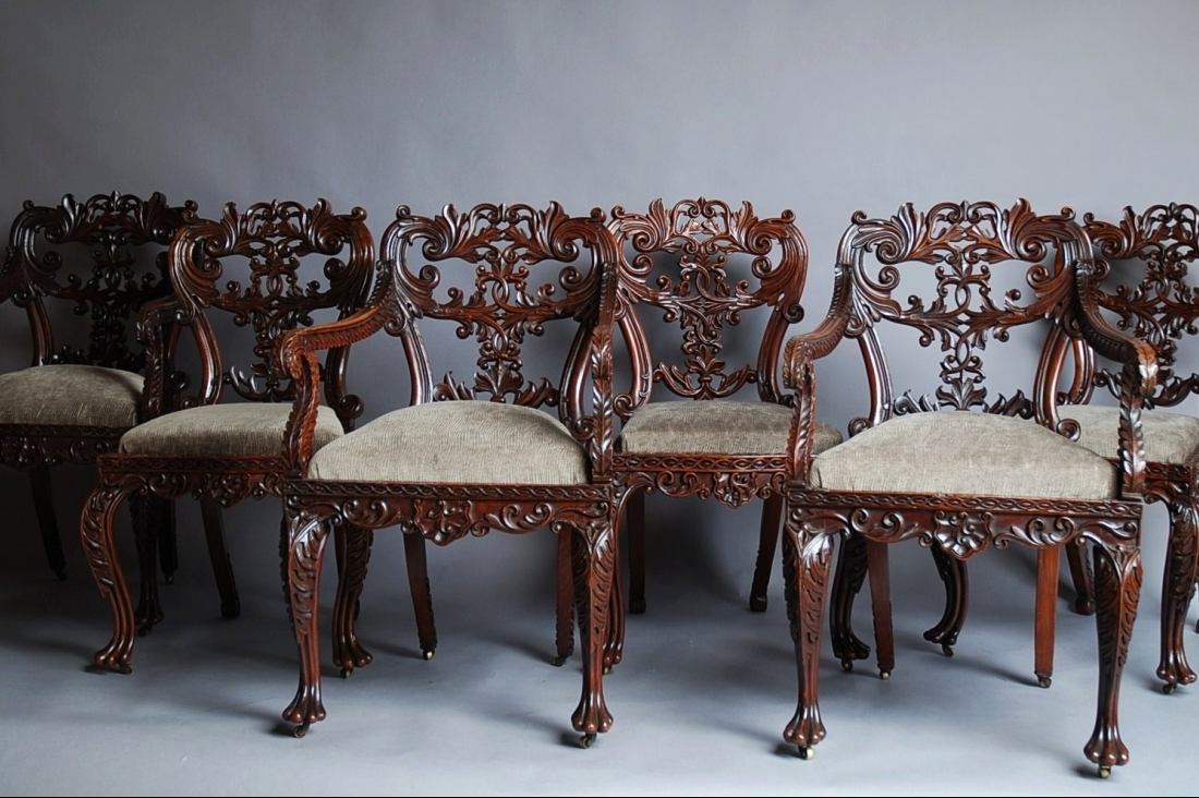 Set of six Anglo Indian chairs ... - Set Of Six Anglo Indian Chairs TrendFirst