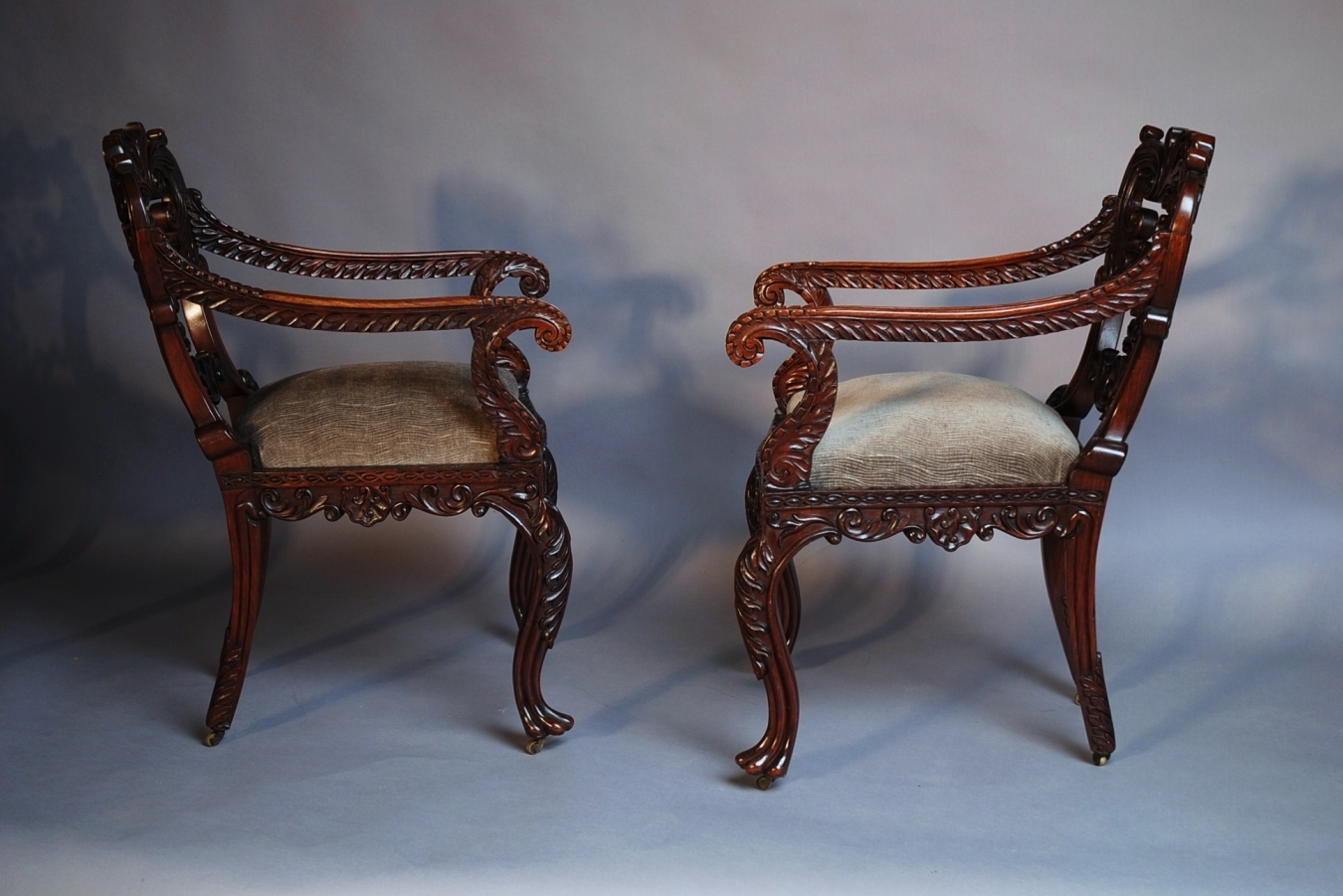 ... Set Of Six Anglo Indian Chairs ...