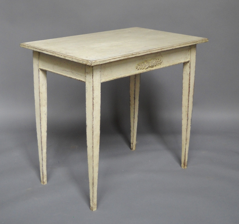 Pair of gustavian tables trendfirst for Oka gustavian side table