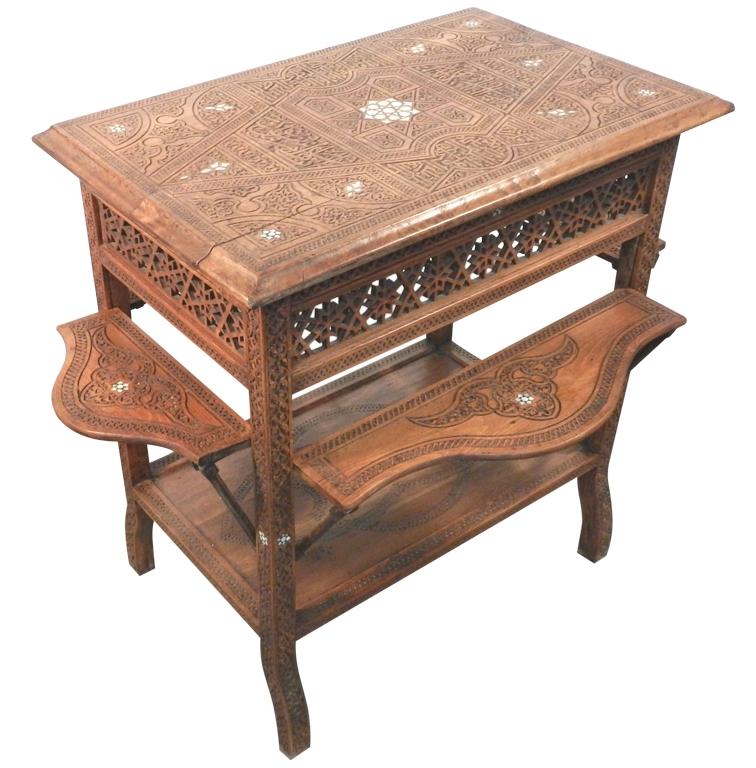 Peachy 19Th Ancient Syrian Tea Table Trendfirst Lamtechconsult Wood Chair Design Ideas Lamtechconsultcom