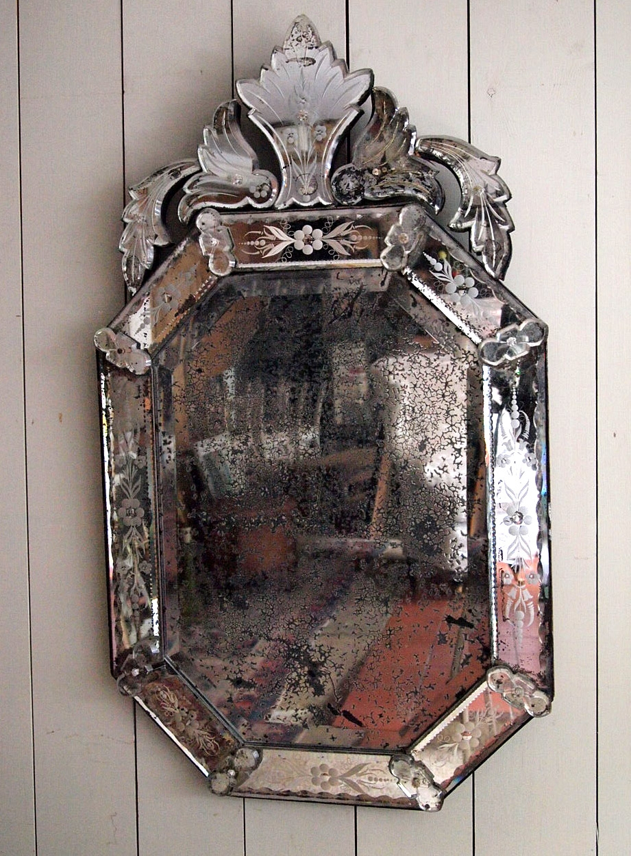 Fine Antique Venetian Mirror Trendfirst