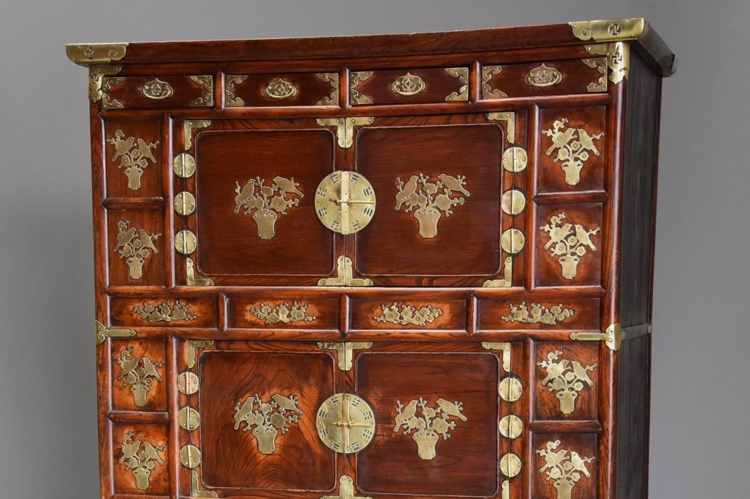 19thc Korean Elm Cabinet