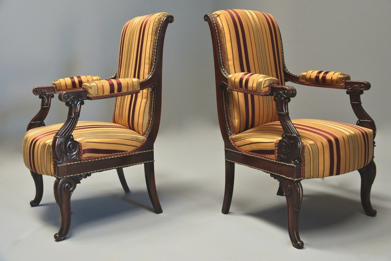 Pair Empire Style Chairs ...