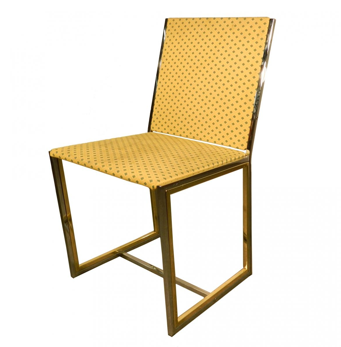 Six Metal And Brass Chairs Trendfirst