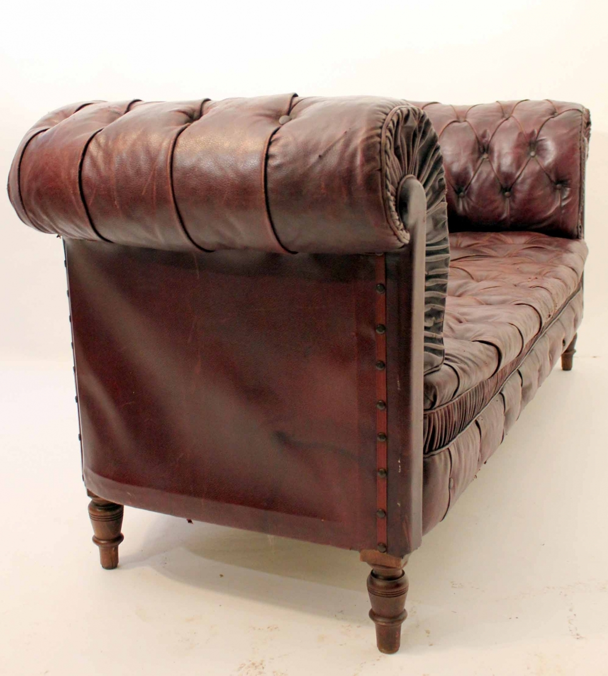 Astonishing Red Leather Chesterfield Sofa Trendfirst Bralicious Painted Fabric Chair Ideas Braliciousco