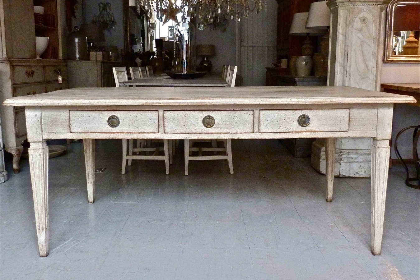 Swedish Gustavian Dining Table Trendfirst