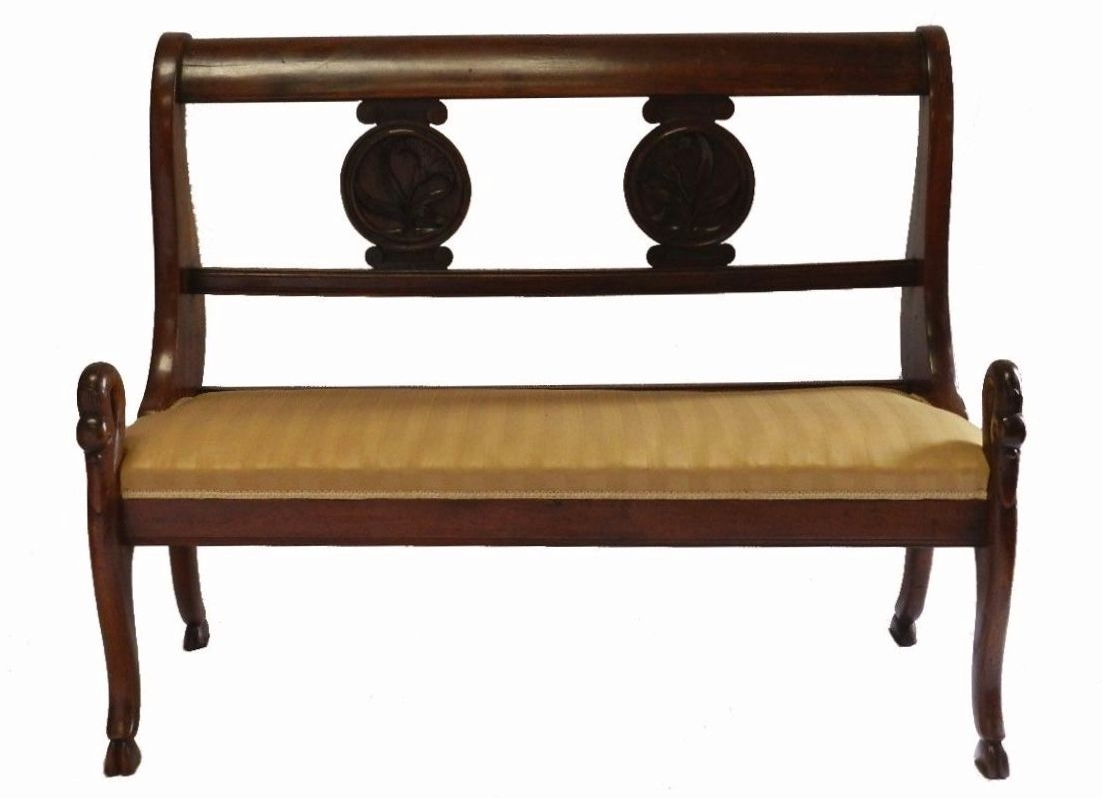 French Empire Bench Sofa Swan Trendfirst