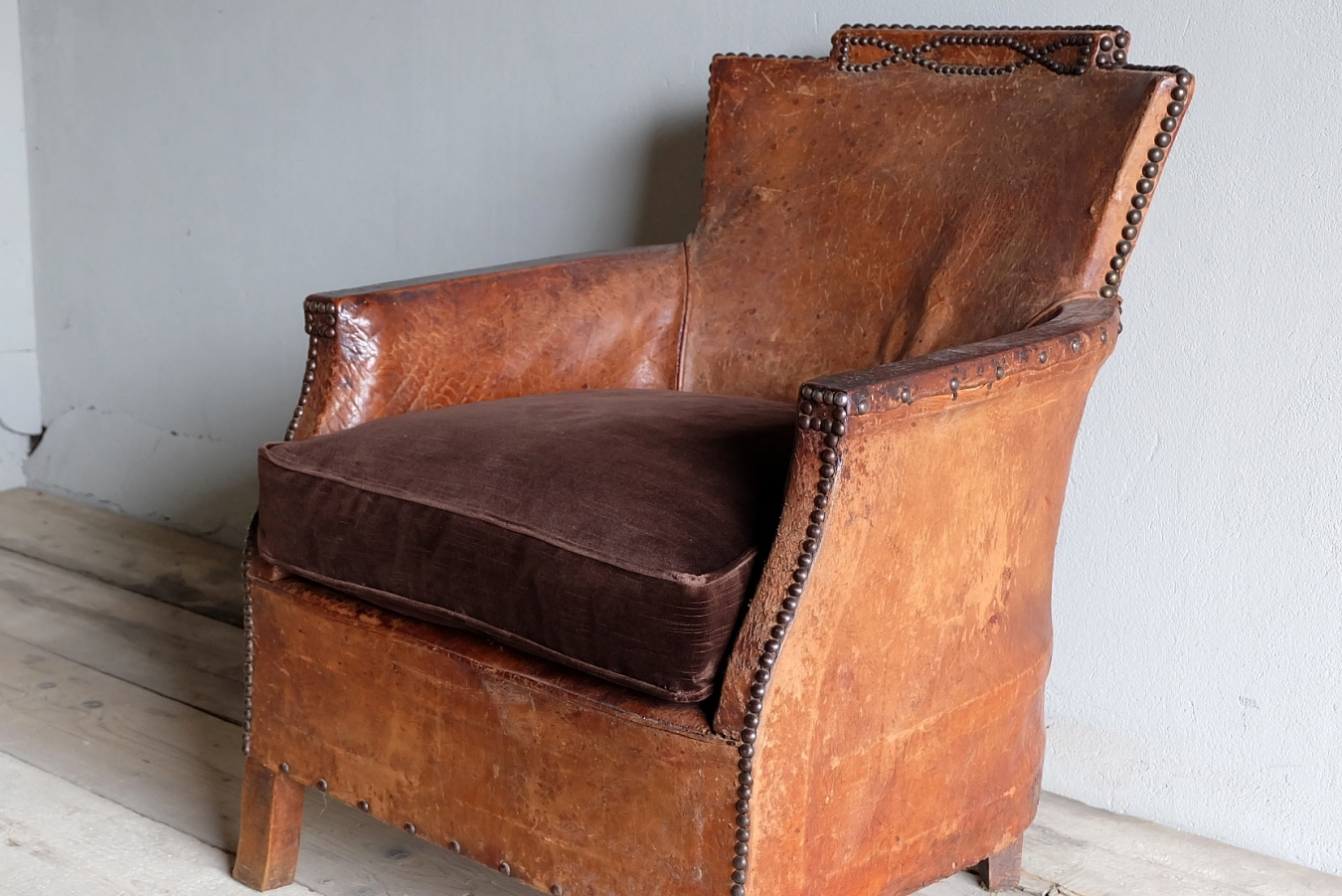 Antique Leather Armchair ...