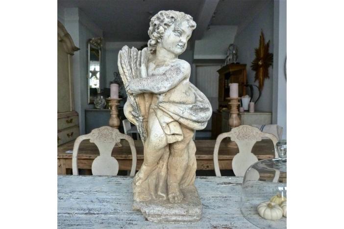 Fine Carved Stone Putto