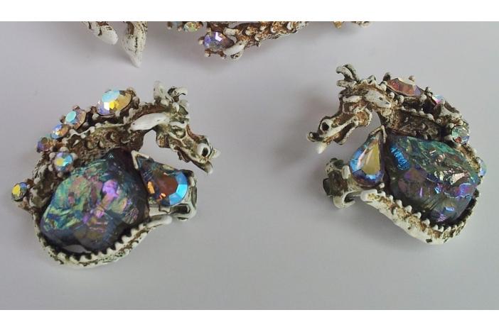 HAR Dragon bracelet & earrings