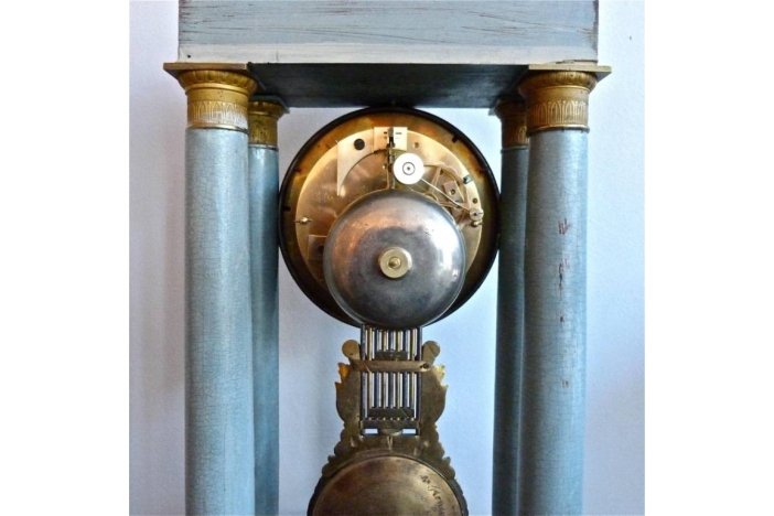 French Gridiron Mantle Clock