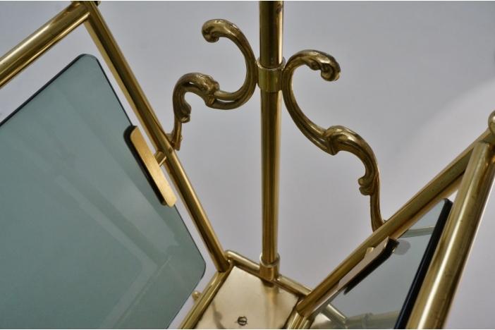 Vintage brass magazine rack