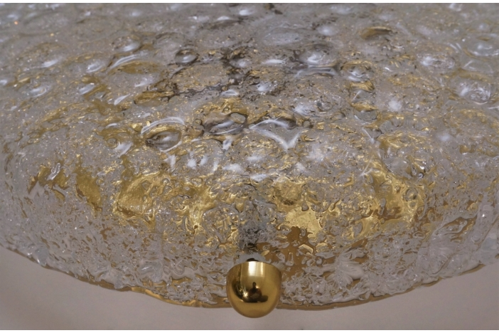 Brass flush light