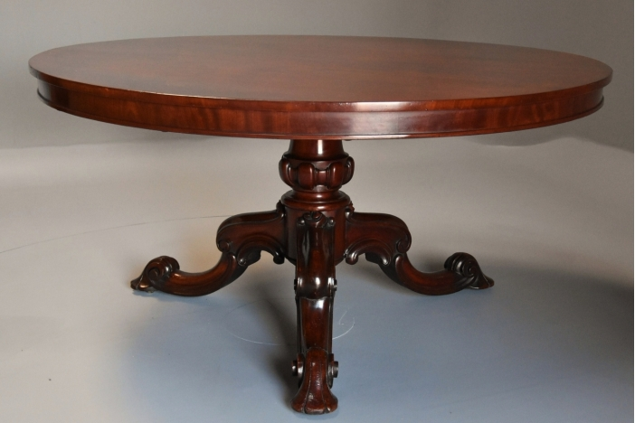 19thc mahogany tilt top table