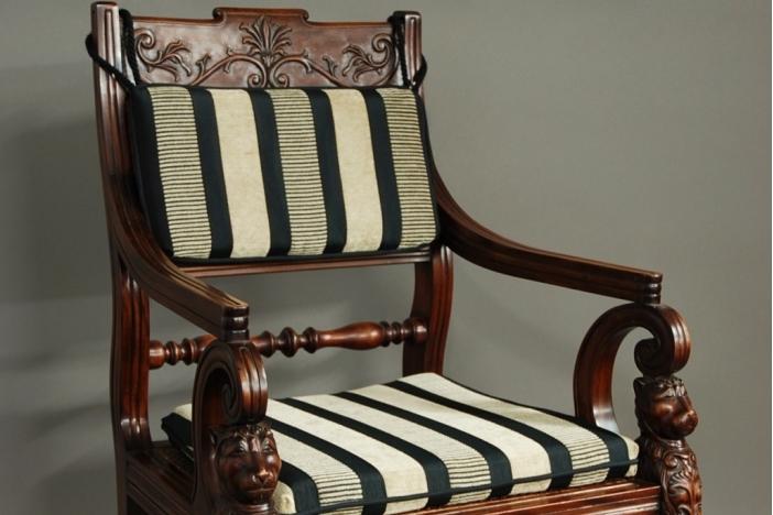 19thc mahogany armchair