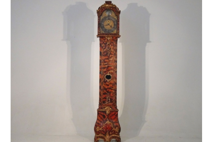 Rare Painted Clock, 18th C.