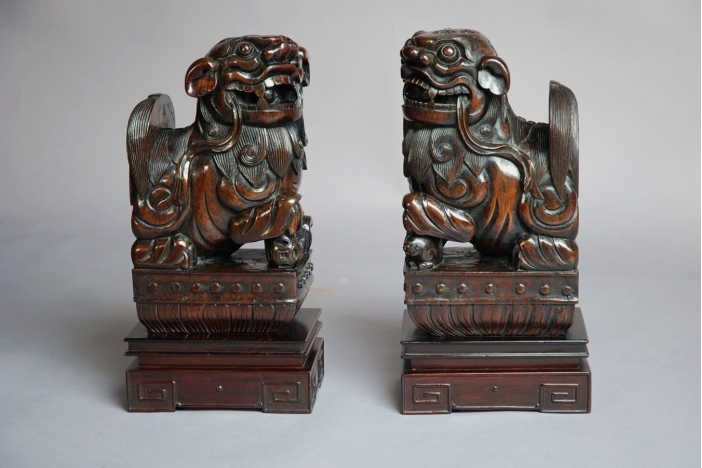 Pair of Chinese Fu Lions