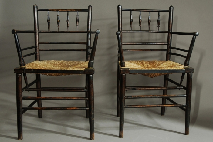 Set of six Sussex chairs