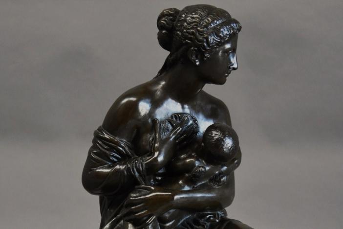 19thc bronze of Venus & Cupid