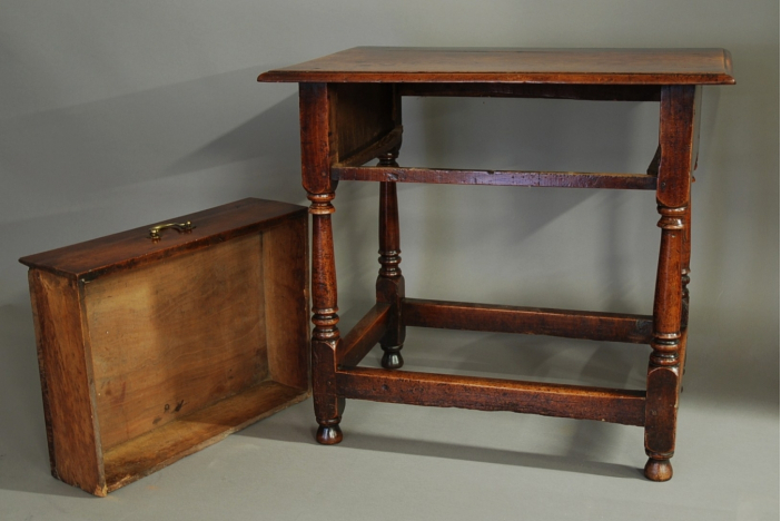 18thc cherry joined side table