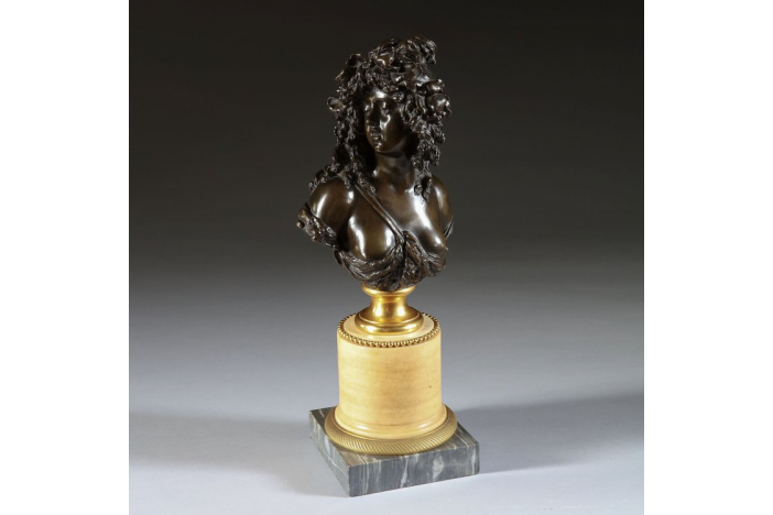 early 19th century bronze bust