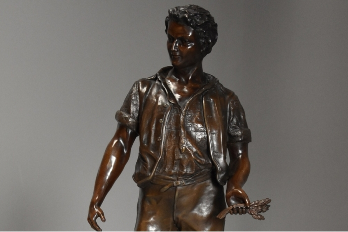 Large French spelter figure