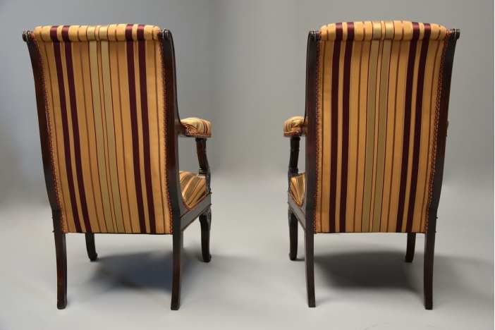 Pair Empire style chairs