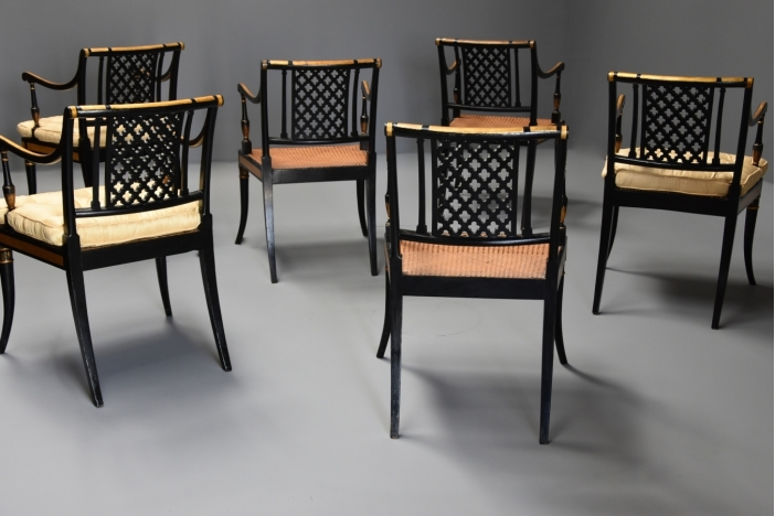Set of Regency armchairs