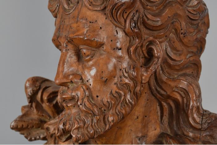 Large carving of 'St. John'