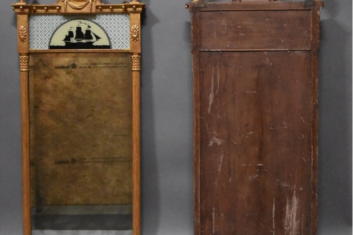 Pair of giltwood pier mirrors