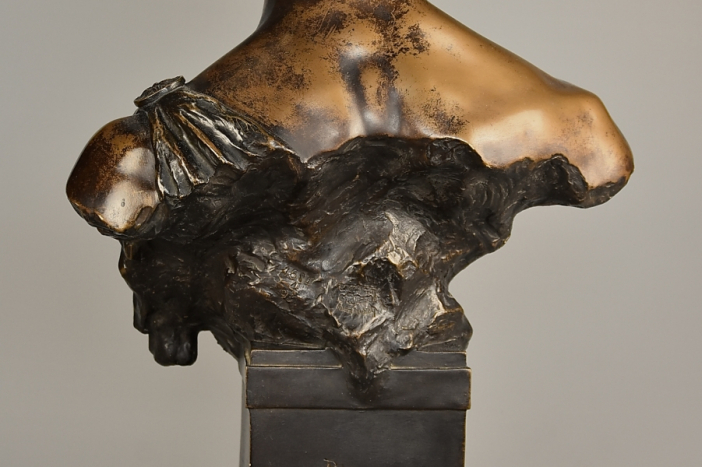 Bronzed bust of 'Orpheus'