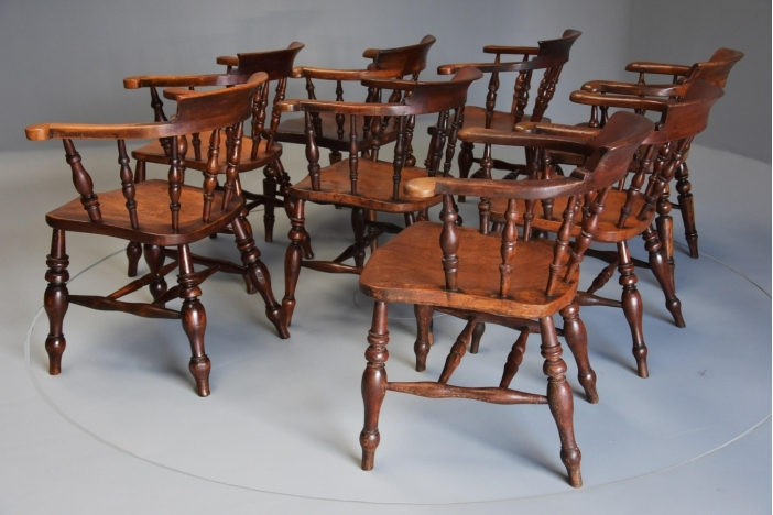 Set of Smokers bow chairs