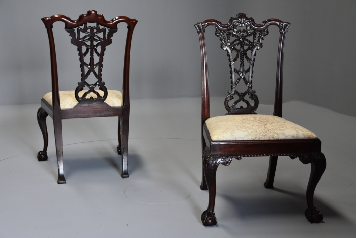 Set Chippendale style chairs