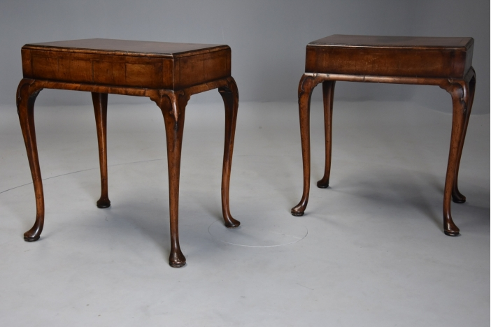 Pair Queen Anne style tables