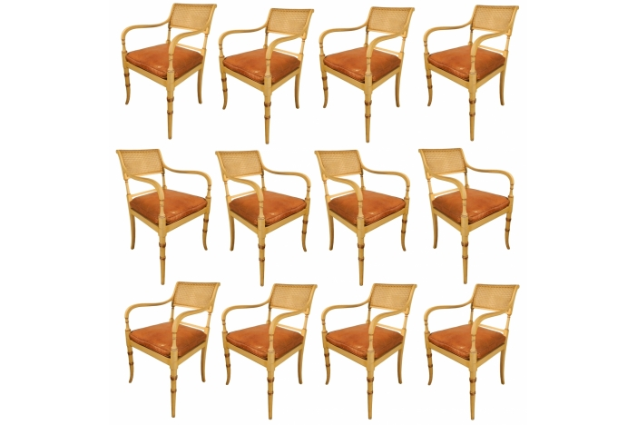 Rare set of 12  chairs
