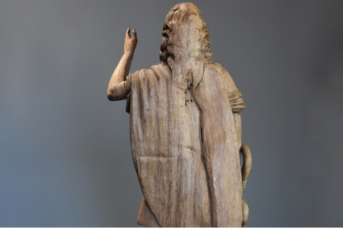 18thc life size carved figure
