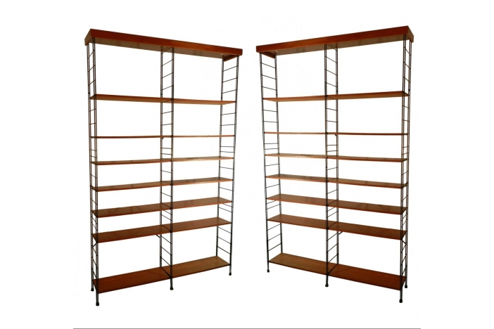 Pair Of 1960 High Shelves