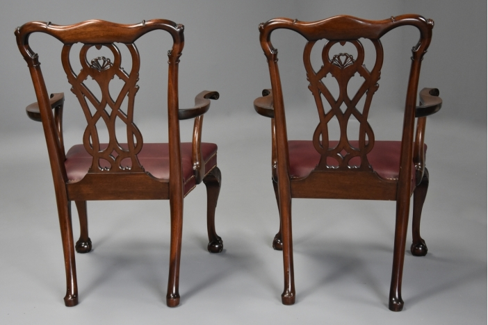 21 Chippendale style chairs