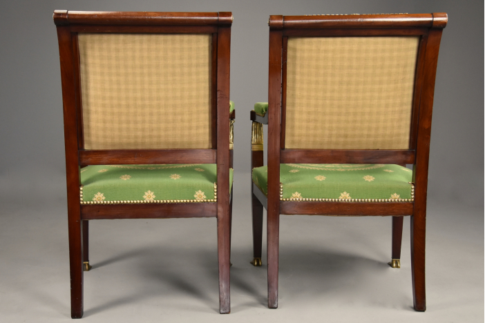 Pair Empire style armchairs