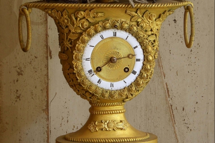 French gilded Mantelclock