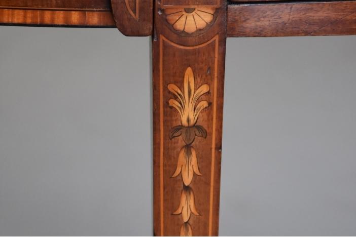 Mahogany bowfront sideboard