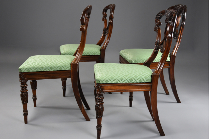 Set of 4 rosewood chairs