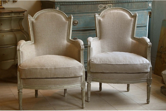 Pair of French Bergeres