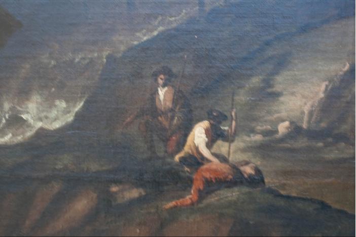 17th Century Oil On Canvas