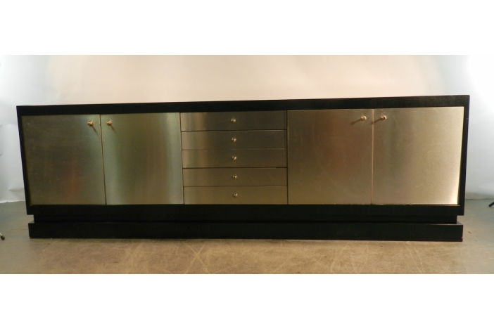 Acerbis, steel & oak sideboard