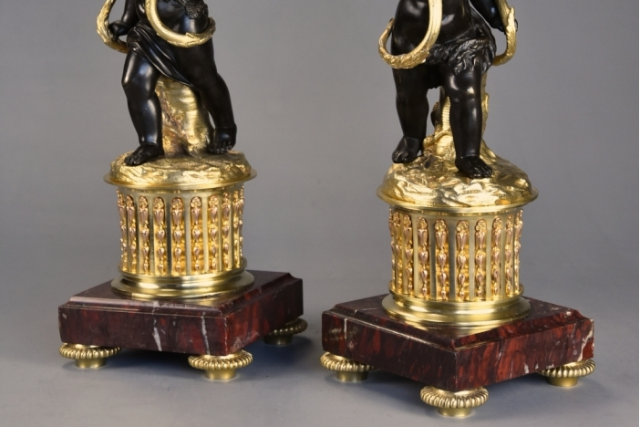 Ormolu &bronze candelabra