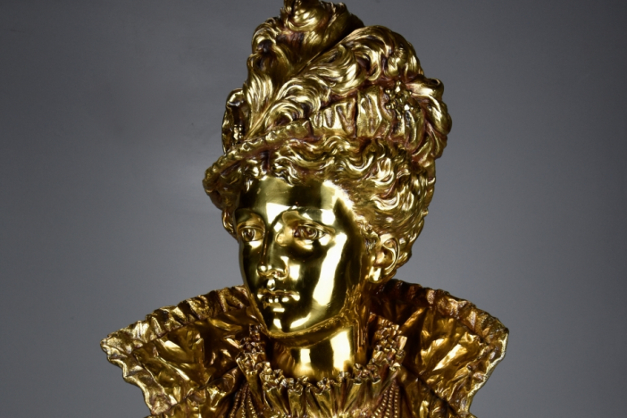 French female gilt bronze