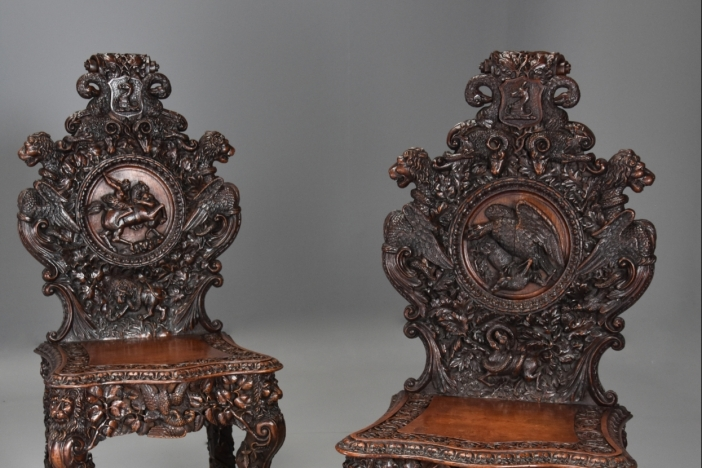 Superb pair of chairs