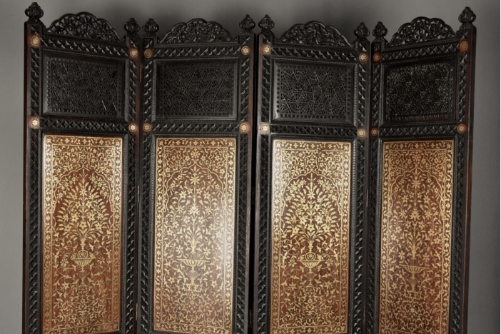 Anglo Indian inlaid screen
