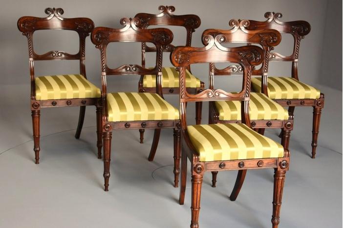 Set of Regency rosewood chairs